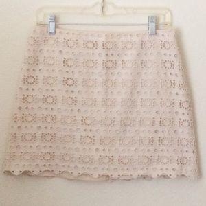 J Crew Eyelet Daisy Mini Skirt